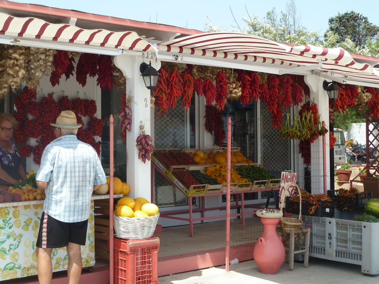 Fruit and vegetables on the piazza, Casalabate, Salento - Discover Puglia